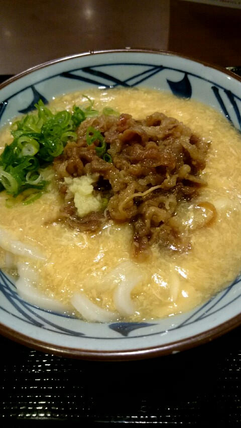 丸亀製麺 肉たまあんかけ