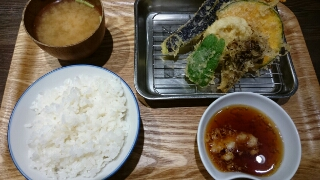 野菜天ぷら定食
